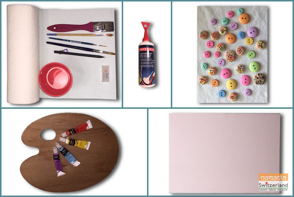 Materials needed for Button Craft
