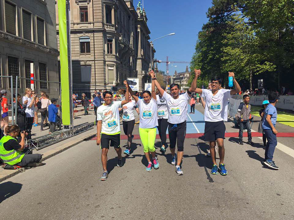 Asha Zurich at the Zurich Marathon 2017