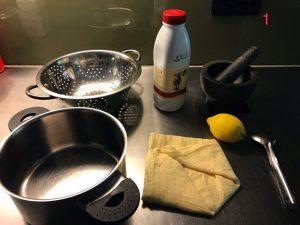 Making paneer - Step 1