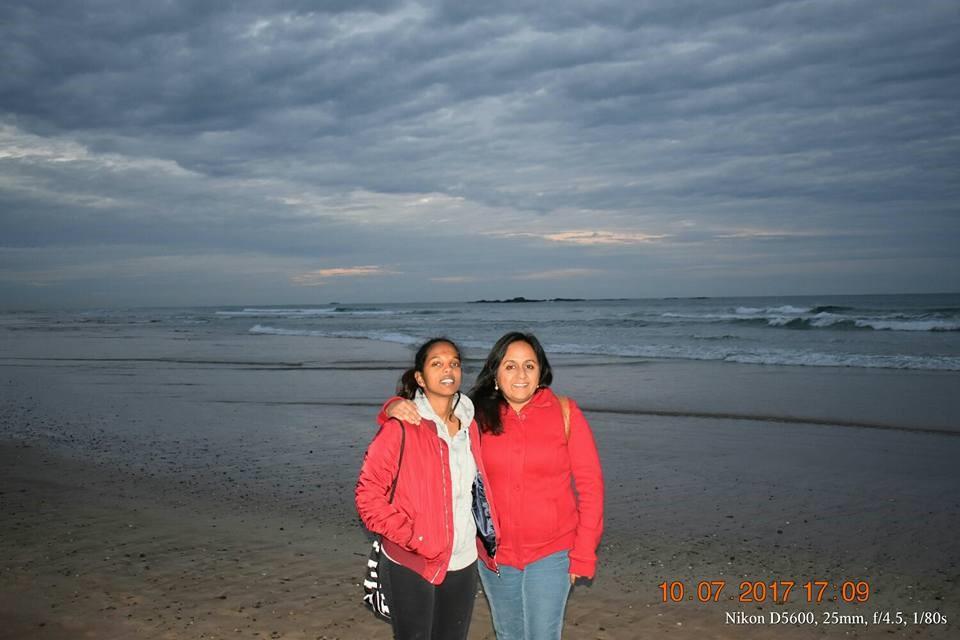 Photo of Rupa Mukerji with her daughter