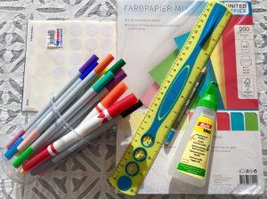 DIY Bookmark Materials needed