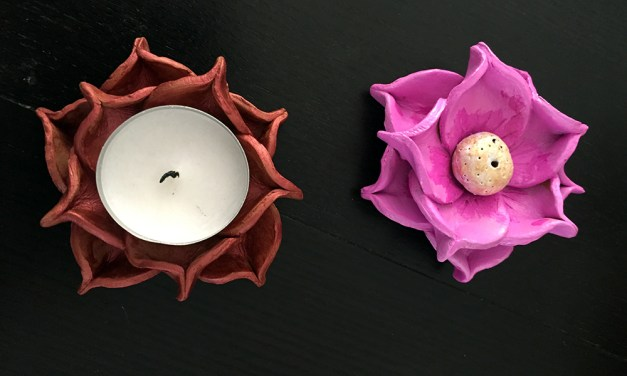 DIY 'Diya' and 'Agarbatti' Holder for Diwali