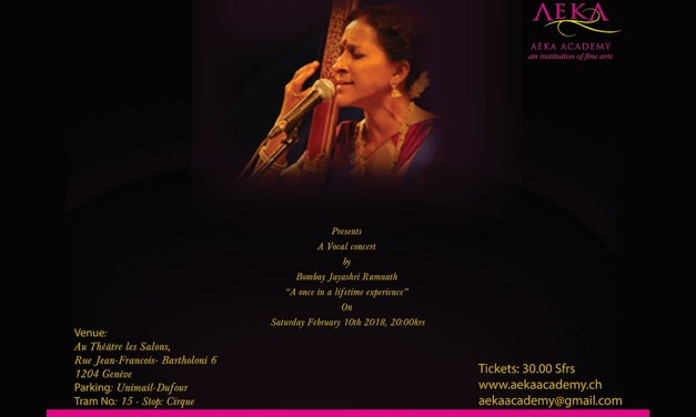 Aeka Academy presents a Vocal Concert by Bombay Jayashri Ramnath