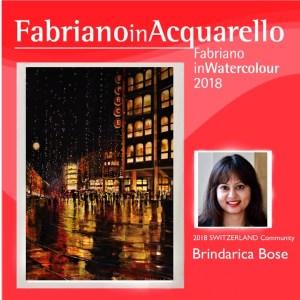 Brindarica Bose in Fabriano in Acquarello