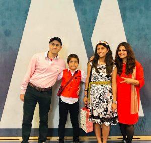 Photo of Ruby Bakshi Khurdi with her family