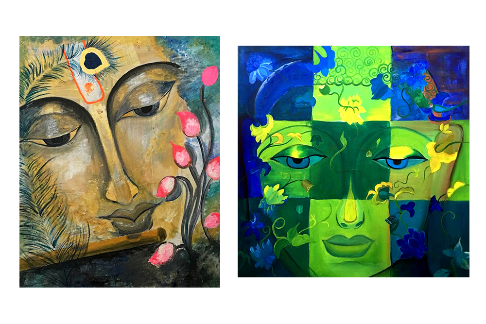 Paintings of Lord Shiva by Rajani Battula