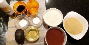 Avocado Brownies - Ingredients