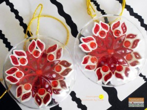Photo of Christmas tree ornaments made by quilling