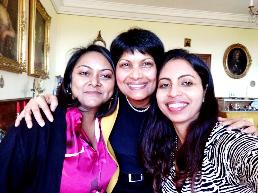 Photo of Susan von Sury with Manasa Mukka and Shinta Simon
