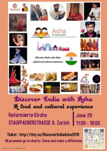 Discover India with Asha @ Reformierte Kirchegemeindehaus. St.Jakob