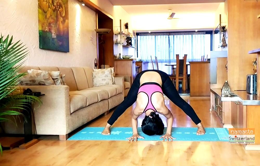 'Prasarita padottanasana' or the wide leg forward bend