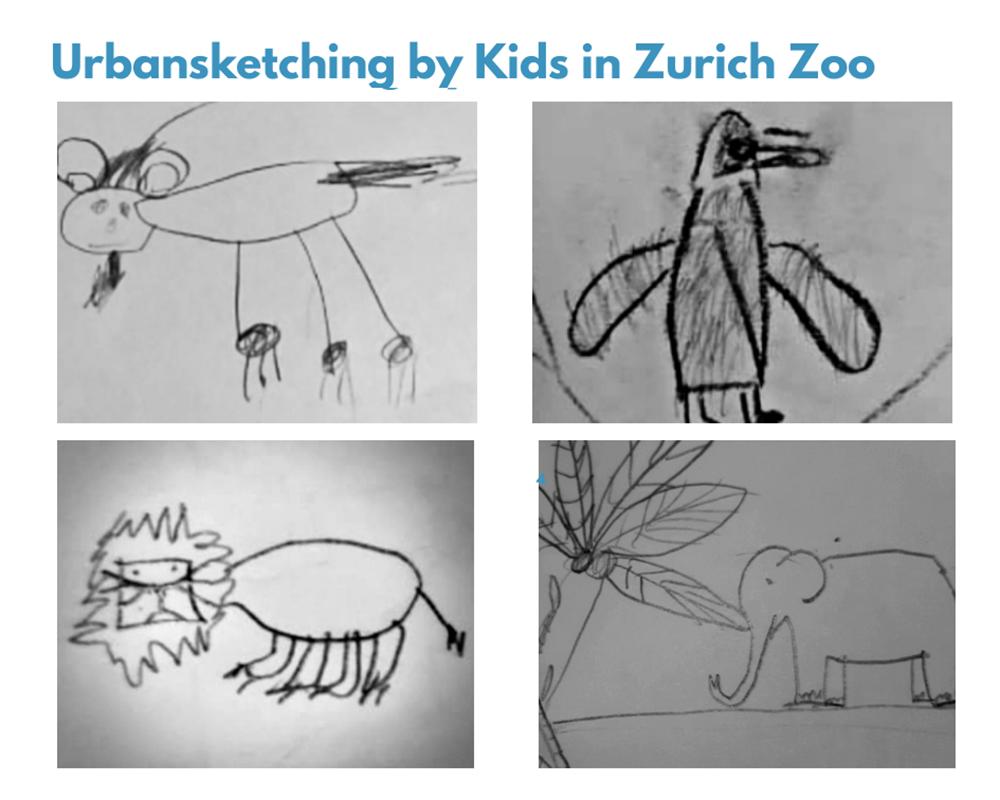 Photograph of Urban sketching at the zoo
