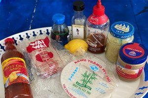 Image showing Ingredients for Summer-rolls