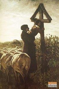 Kissing-the-cross - segantini