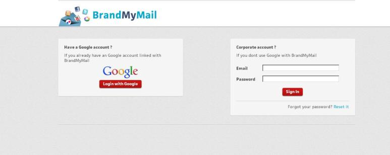 Hacemos log in en BrandMyMail