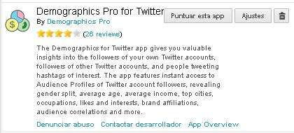 Demographics Pro for Twitter, a Hootsuite app