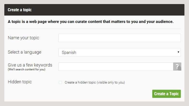 Curación de contenidos con Scoop.it, elección de palabras clave