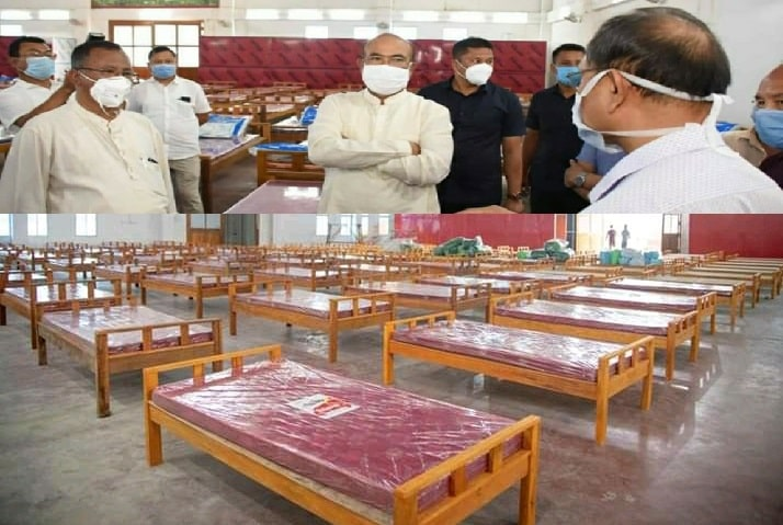 CM inspects COVID Care Centre Imphal