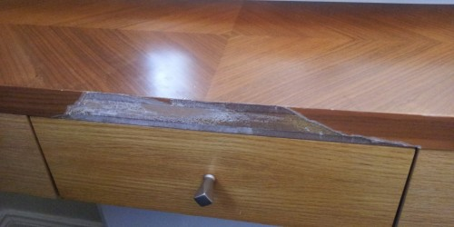 TABLES CHAIRS DESK CHIPPED SCRATCHED