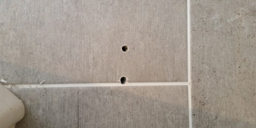 drill holes in tiles
