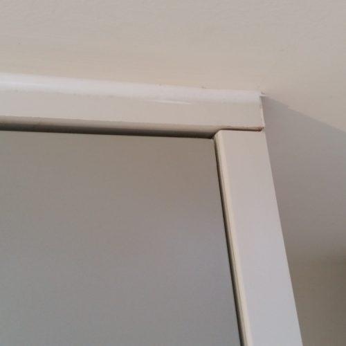repaired chipped door