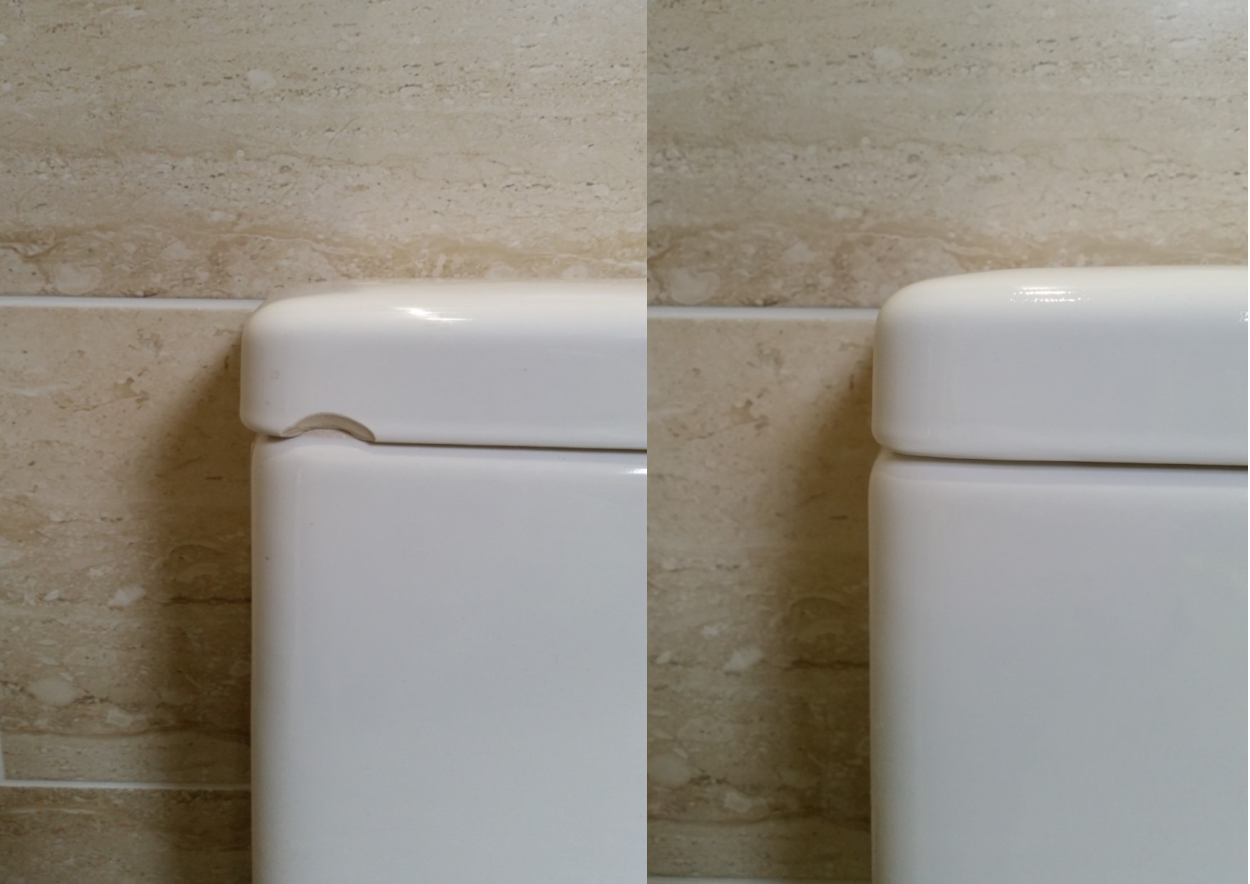 Superbe CHIPPED PORCELAIN SINK AND TOILET CISTERN REPAIRS