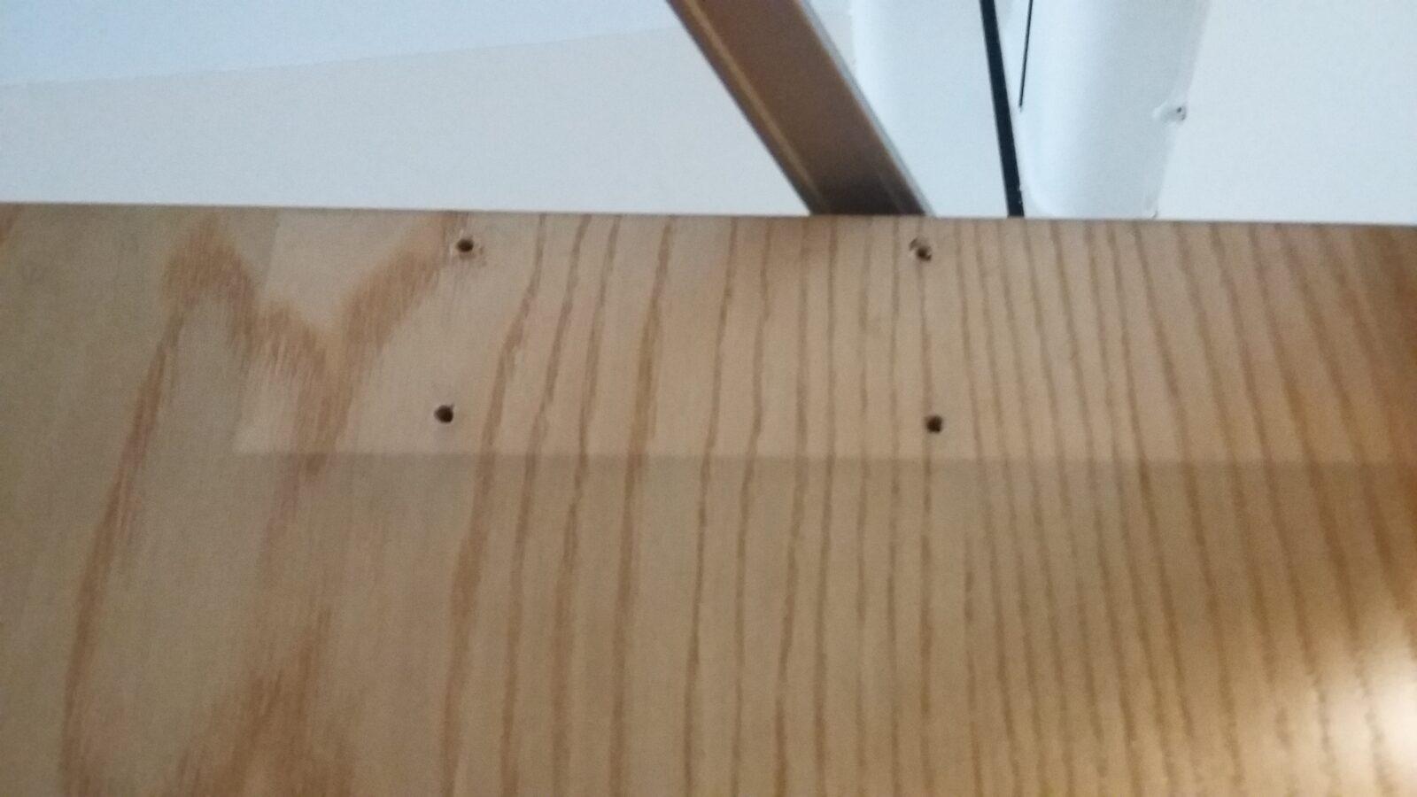 Veneer door repair repairing damaged veneer for Repair wood veneer exterior door