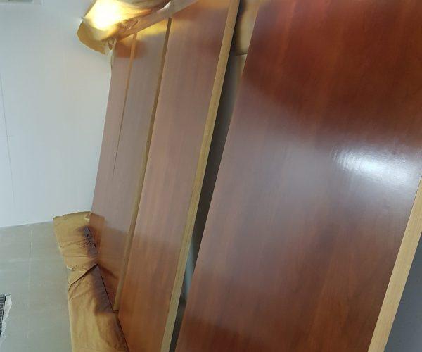 DOOR SPRAYING FRENCH POLISHER SCRATCH CHIP DENT REPAIR REFURBISHMENT OFFICE DOORS