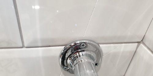 BADLY CRACKED BATHROOM TILE REPAIR BEFORE
