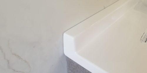BATHROOM DOUBLE VANITY UNIT CHIP REPAIR AFTER