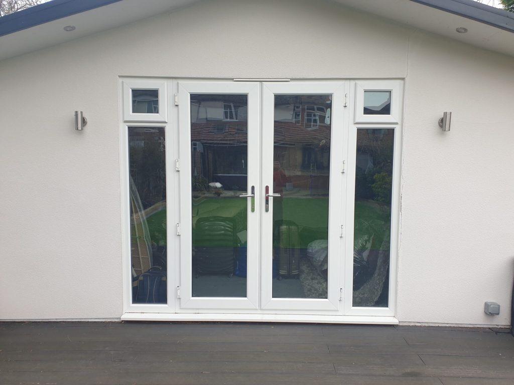 UPVC PLASTIC WINDOW FRAME SPRAY PAINTING COLOUR CHANGE BEFORE