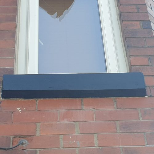 CONCRETE SAND STONE WINDOW SILL CILL CRACK CHIP REPAIR REFURBISHMENT AFTER 1