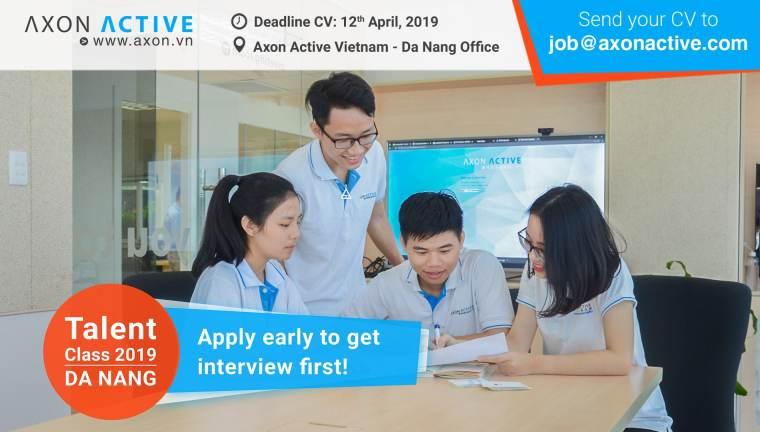 Kinh nghiệm phỏng vấn Talent Class Axon Active 2019