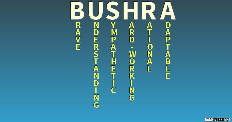 The meaning of bushra - Name meanings