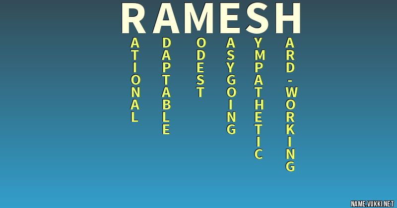 The meaning of ramesh - Name meanings