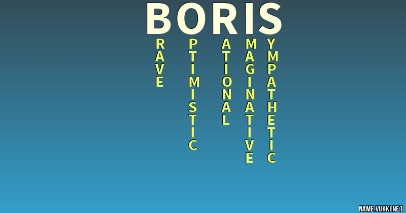 The meaning of boris - Name meanings