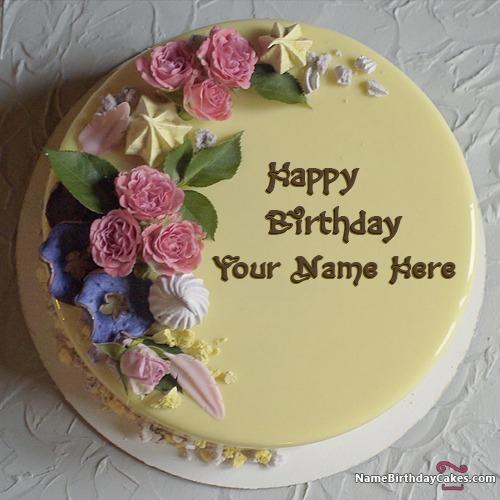 Birthday Cake For Sister Name Editing Floweryred2 Com