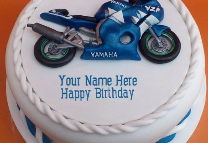 Bike Birthday Cake For Brother With Name