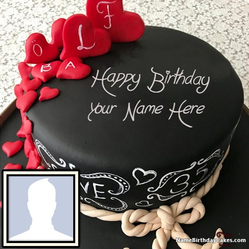 100 Lovely Birthday Cake For Wife With Name Photo