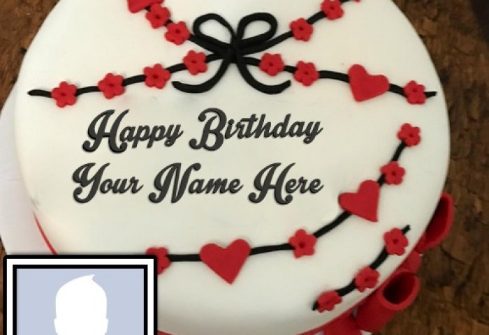 Special Happy Birthday Cake With Photo And Name
