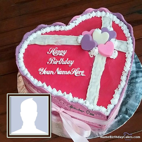 50 Romantic Birthday Cake For Husband With Name Photo