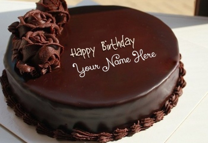 Chocolate Cake For Birthday With Name