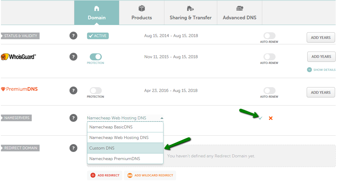 Connect Namecheap to Wix - Custom DNS