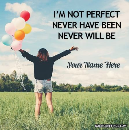 Create girls quote photo with name