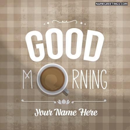 good morning name photo