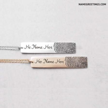 write name on necklace