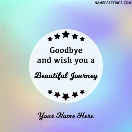 happy journey name card