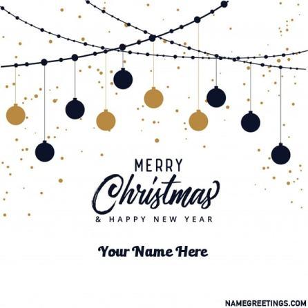 merry christmas custom name card