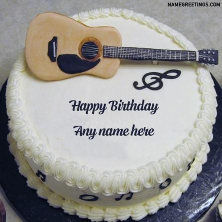 guitar name birthday cake image