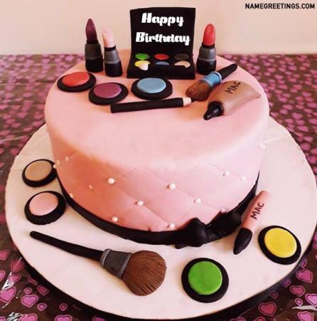 makeup birthday name cake mac